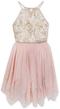 Rare Editions Big Girls Sequin Mesh Dress
