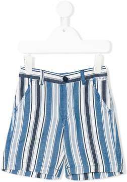 Il Gufo striped denim shorts
