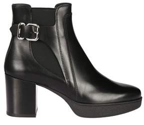 Tod's Women's Xxw40a0u700g0cb999 Black Leather Ankle Boots.
