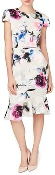 Betsey Johnson Floral Print Scuba Midi Dress