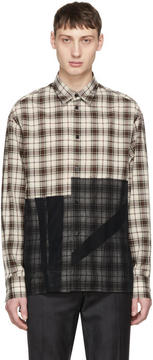 Lanvin Brown and Navy Patchwork Shirt