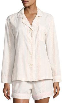 BedHead Spanish Rose Striped Long-Sleeve Shortie Pajama Set