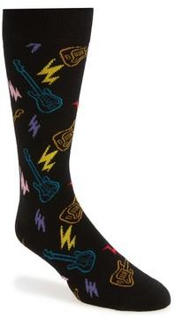 Happy Socks Men's Guitars & Bolts Socks