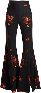 Ellery Higher and Higher wide-leg flared crepe trousers
