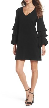 Charles Henry Women's Tiered Ruffle Sleeve Dress