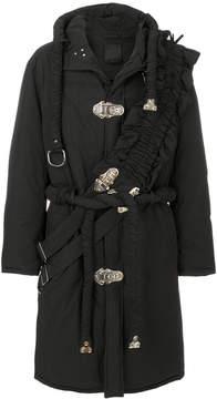 Craig Green cross panel oversized hooded coat