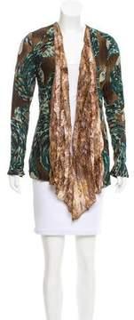 Alberto Makali Abstract Print Knit Cardigan w/ Tags