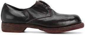 Guidi distressed oxford shoes