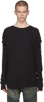 Balmain Black Long Sleeve Faux Double T-Shirt