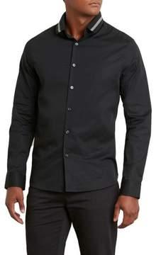 Kenneth Cole New York Reaction Kenneth Cole Long-Sleeve Rib Collar Shirt - Men's