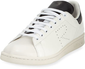 Adidas By Raf Simons Men's Stan Smith Leather Low-Top Sneaker, White/Black