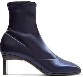 3.1 Phillip Lim Blade Stretch-satin Sock Boots - Navy