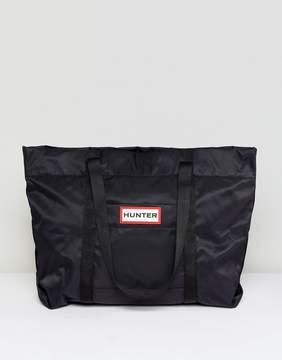 Hunter Black Nylon Weekend Gym Bag