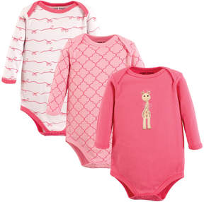 Luvable Friends Pink Giraffe Bodysuit Set - Infant