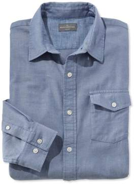 L.L. Bean L.L.Bean Signature Herringbone Twill Shirt, Long-Sleeve