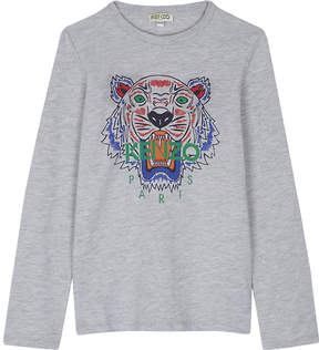Kenzo Tiger cotton-blend long-sleeved top 4-16 years