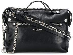 Balmain logo plaque tote bag