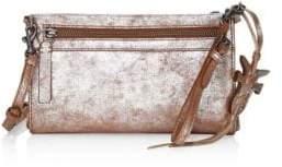 Frye Carson Metallic Leather Wristlet Crossbody Bag