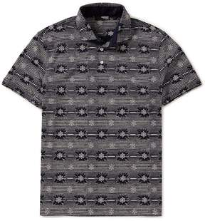 Murano Slim-Fit Floral Print Short-Sleeve Polo Shirt