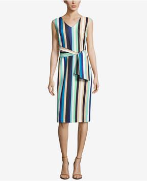 ECI Striped Tie-Waist Dress