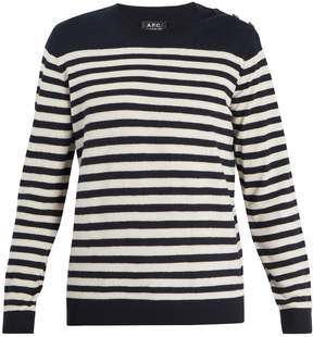 A.P.C. Skye striped wool sweater