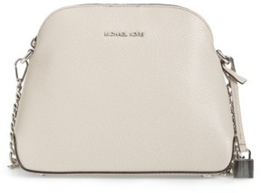 Michael By Michael Kors Medium Mercer Leather Dome Satchel - Beige