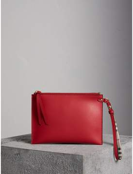 Burberry Haymarket Check and Leather Pouch