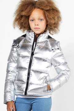 boohoo Girls Metallic Padded Winter Coat