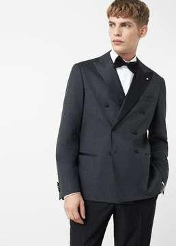 Mango Outlet Double-breasted tuxedo blazer