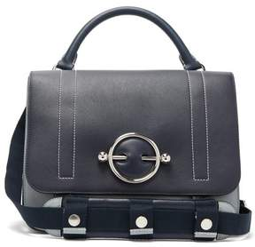 J.W.Anderson Disc Leather Satchel Bag - Womens - Navy Multi