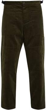 Oliver Spencer Judo tapered-leg cropped cotton-corduroy trousers