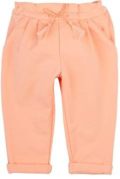 Chloé COTTON DOUBLE-PLEATED PANTS