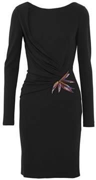 Emilio Pucci Embellished Ruched Jersey Mini Dress