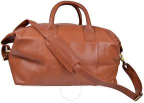 Royce Leather Royce Euro Traveler Petite Luxury Overnighter Handcrafted Leather Duffle Bag Luggage - Tan