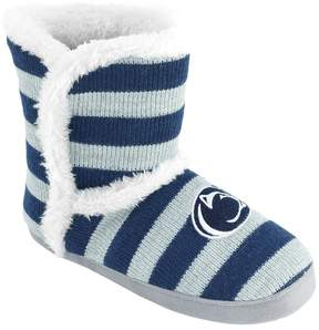 NCAA Women's Penn State Nittany Lions Striped Boot Slippers