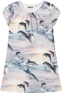 Molo Grey Dolphin Sunset Camellia Dress