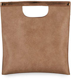 Neiman Marcus Square Metallic-Trim Clutch Bag