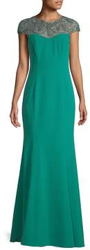 Theia Women's Jewelled Crystal Evening Dress