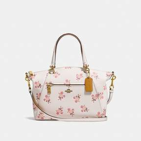 COACH Coach Prairie Satchel With Floral Bow Print - CHALK/BRASS - STYLE
