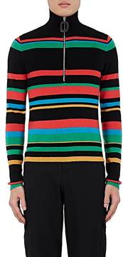 J.W.Anderson Men's Striped Merino Wool Half-Zip Sweater