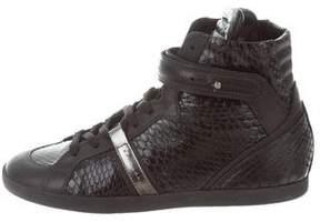 Barbara Bui Python High-Top Sneakers