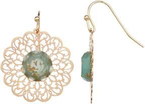 Lauren Conrad Filigree Flower Nickel Free Drop Earrings