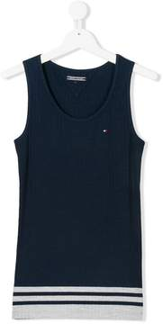 Tommy Hilfiger Junior TEEN striped hem vest top