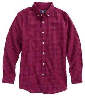 Vineyard Vines Boy's Bentley Gingham Whale Shirt