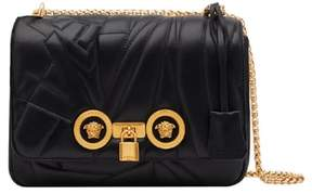 Versace Icon Logo Quilted Leather Shoulder Bag