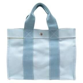 Hermes Toto cloth handbag - BLUE - STYLE