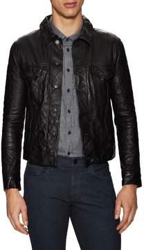 J Brand Men's Reid Leather Slim Jacket