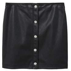 Violeta BY MANGO Buttons faux leather skirt