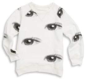 Nununu Little Girl's Eye Cotton Sweatshirt