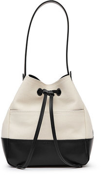 Picton Canvas And Leather Bucket Bag